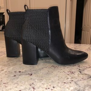 Leather Cole Haan black booties. S7.5